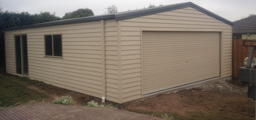 horizontal cladding sheds
